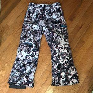 Burton size large (is 10-12) snow pants UNIQUE